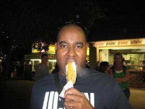 Fried Candy Bar.  Mmmm... hot!